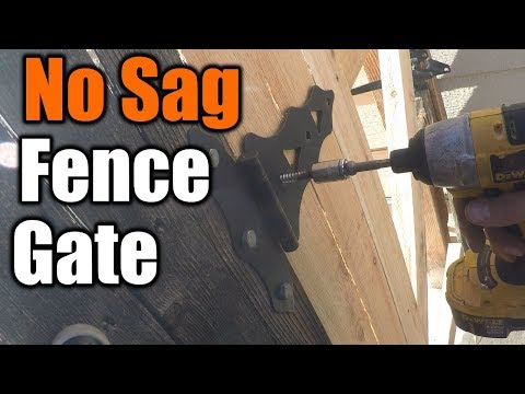 How To Build Gate That Won't Sag | THE HANDYMAN |