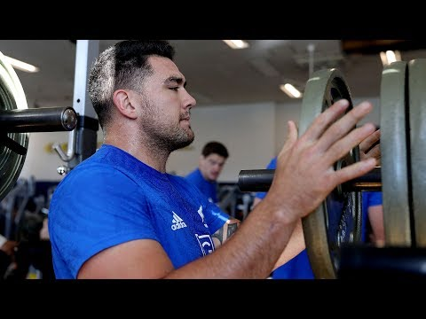 All Blacks hit the gym in Tokyo