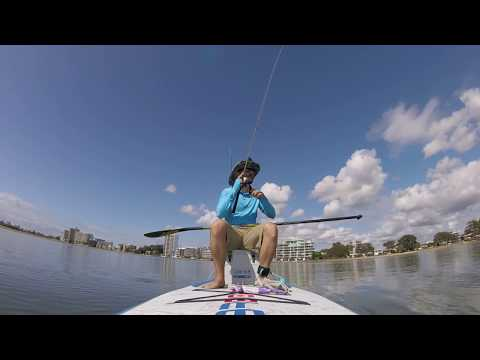 SUP Fishing On Starboard Touring Board (Operation Flathead Off A Stand Up Paddle Board)
