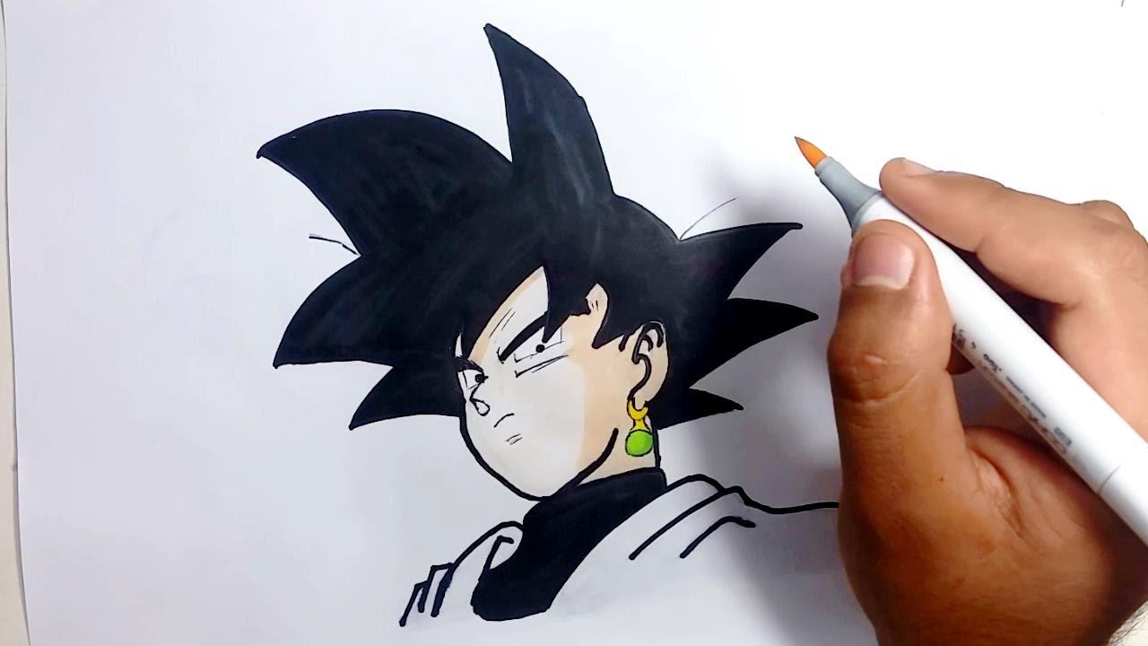 Como Dibujar A Black Goku Black How To Draw Black Goku Dragon