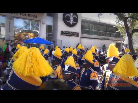 NC A&T University Marching Band and Drill Team - Rex Parade - Mardi Gras 2016 - Feb 9, 2016