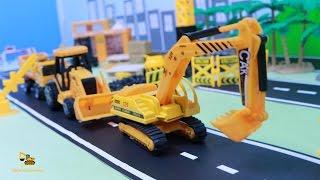 รถของเล่นคันจิ๋ว เครน รถตักดิน รถแม็คโคร รถบรรทุก โฟคลิฟ Toys Vehicles Construction Excavator Truck