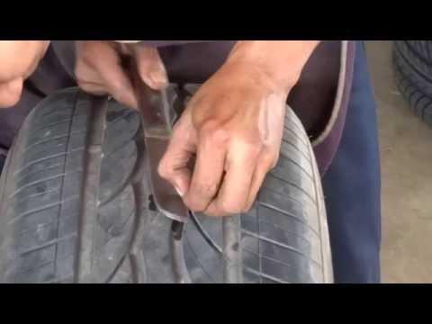 การปะยางรถยนต์ The tire cover
