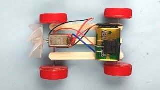 How to make a car for kids using DC motor &  bottle caps- DIY