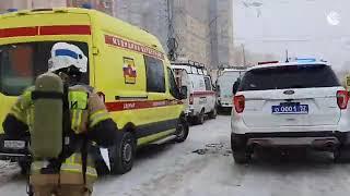 Работа спасательных бригад на месте взрыва в Нижнем Новгороде