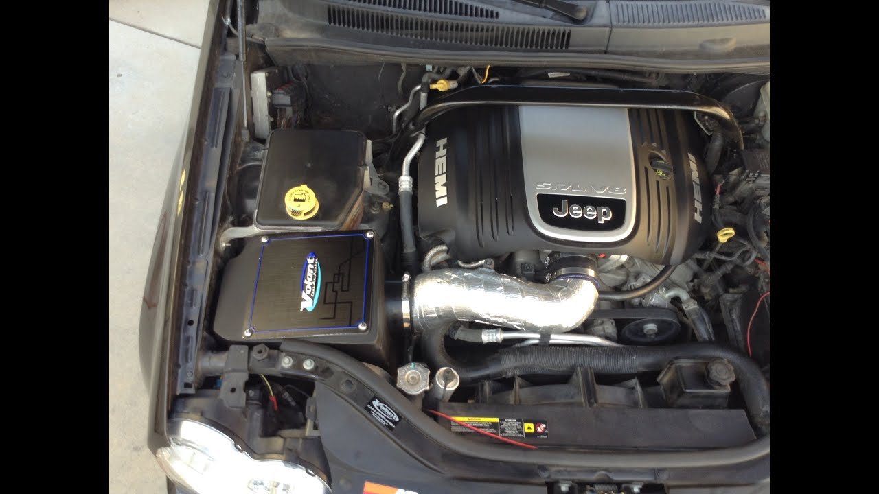 2007 durango fuel filter jeep grand cherokee 5 7l volant intake install youtube  jeep grand cherokee 5 7l volant intake install youtube