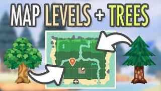 Animal Crossing New Horizons MAP LEVELS + TREES