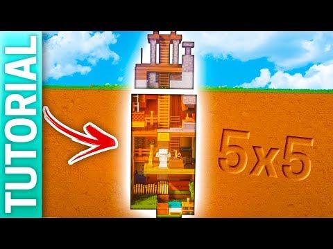 Minecraft: CASA CUEVA BAJO TIERRA de 5x5 para SURVIVAL / Tutorial