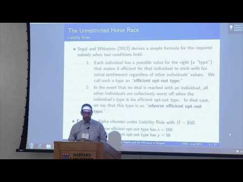 Michael Whinston: 'Property Rights and the Efficiency of Bargaining' | 2015 ISNIE Annual Meeting
