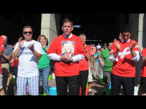 Mayor Walsh takes Ice Bucket Challenge