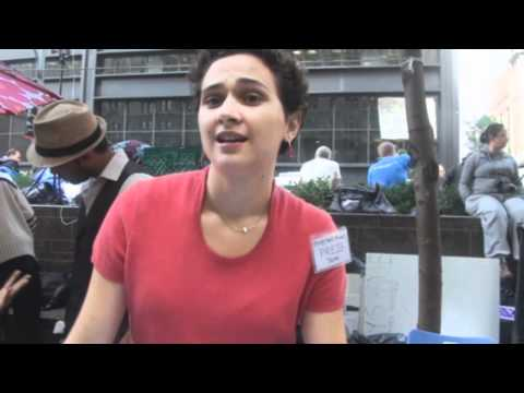 Occupy Wall Street Interview: Morning of forced cleaning