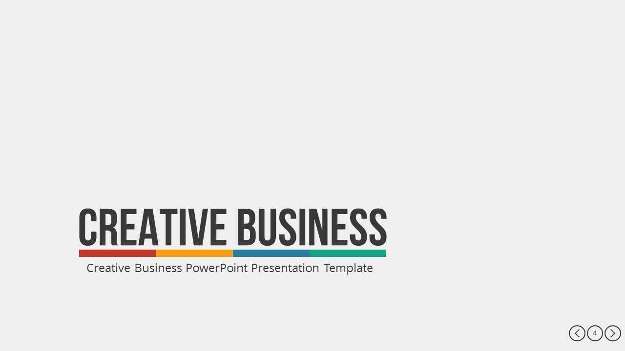 Awesome Powerpoint Presentation Template Creative Business Youtube