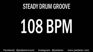 108 BPM - Rock Drum Beat - Backing Track - Practice Tool