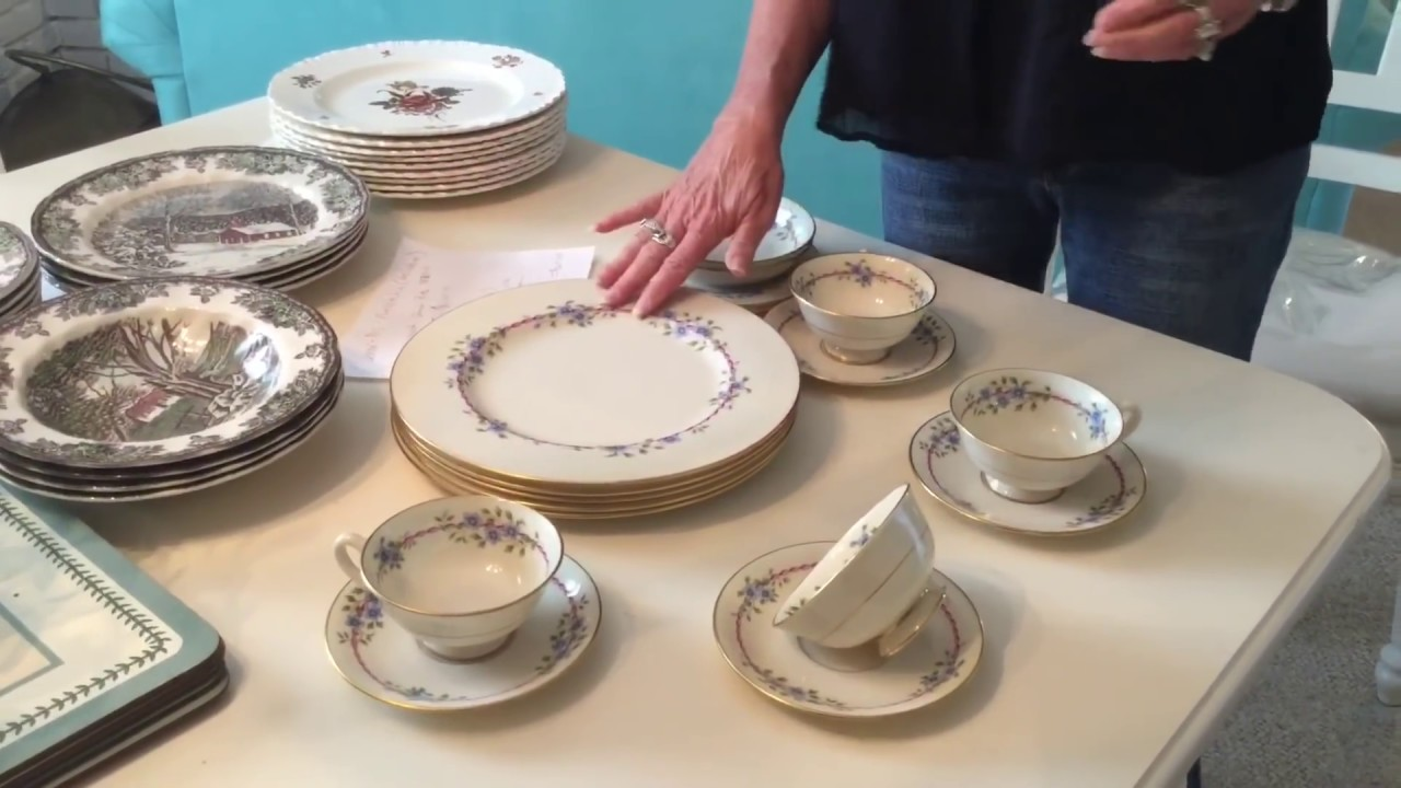 how to make money buying expensive bone china at goodwill. Black Bedroom Furniture Sets. Home Design Ideas