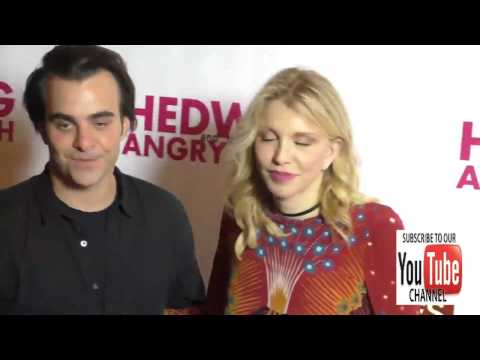 Courtney Love and Nicholas Jarecki at the Opening Night Of Hedwig And The Angry Inch at the Pantages