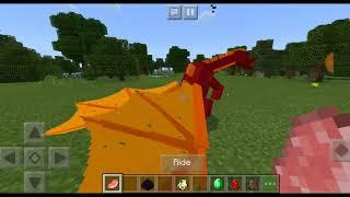 Обзор аддона на драконов в майнкрафт пе?! Как приручить дракона в майнкрафт пе