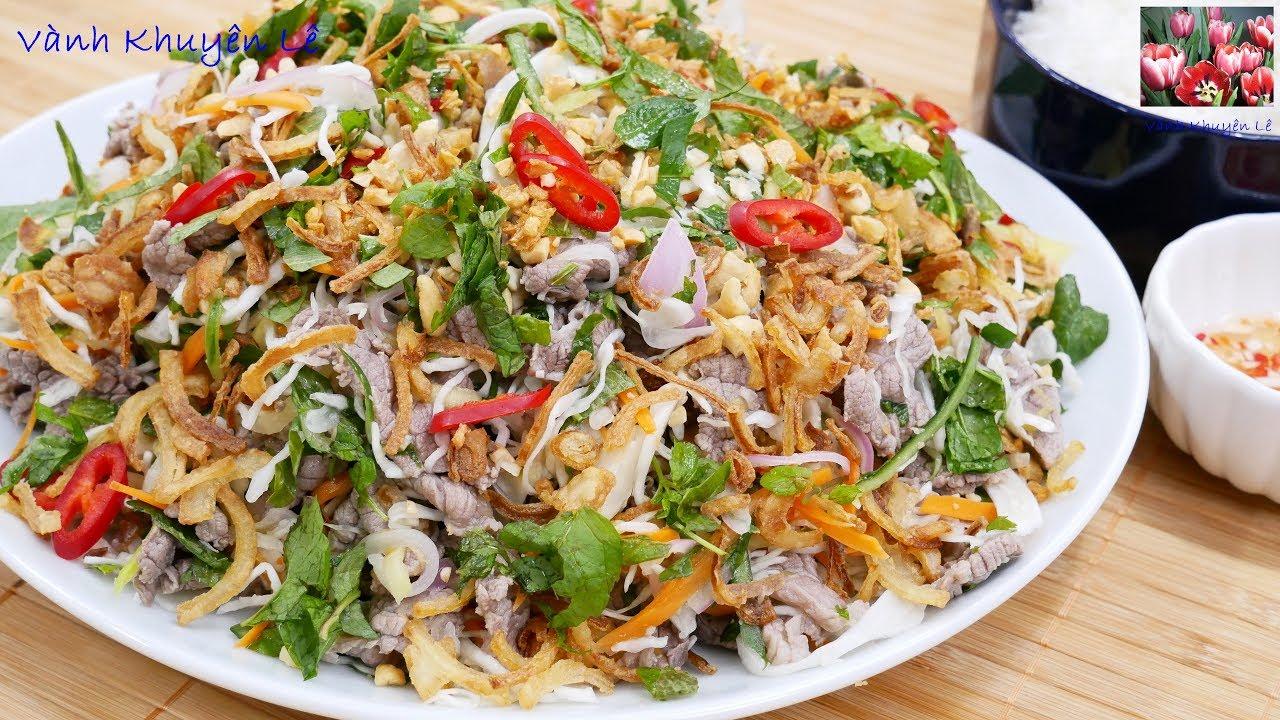 GỎI BÒ – Bí quyết làm cho Gỏi Bắp Cải không ra nước, Thịt Bò mềm ngọt không bị dai by Vanh Khuyen