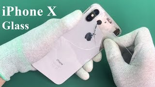 iPhone X-XS replacement back glass home
