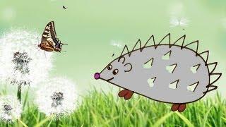 Рисование для детей 3-4 лет Давай нарисуем Ежика