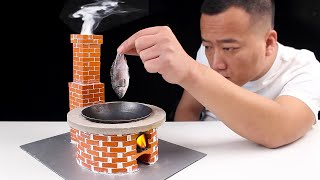 how to make Mini Stove using Miniature Bricks | Mini FoodShow