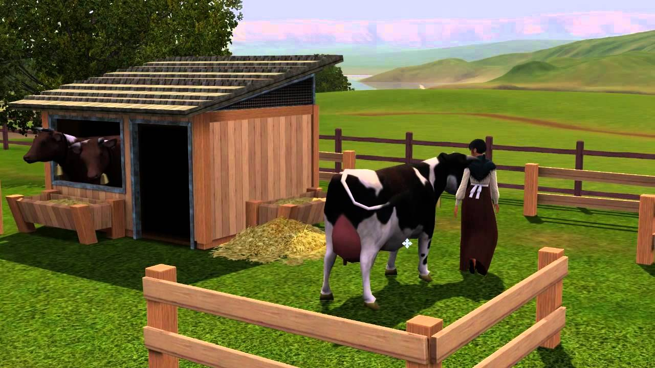 sims 3 milkin it dairy corral