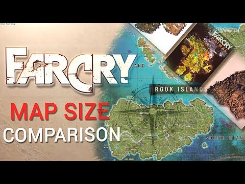 Far Cry Maps Size Comparison Far Cry 5 Far Cry 4 New Dawn