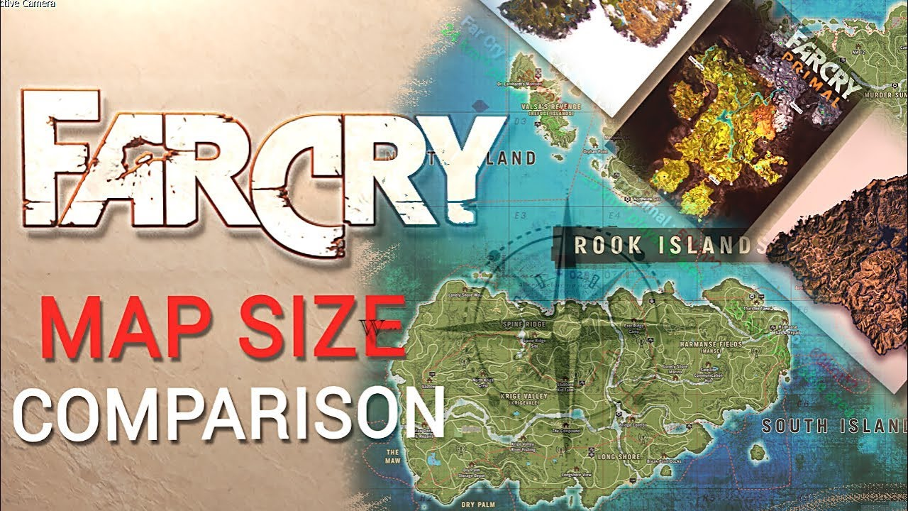 Far Cry Maps Size Comparison Far Cry 5 Far Cry 4 New Dawn More Youtube