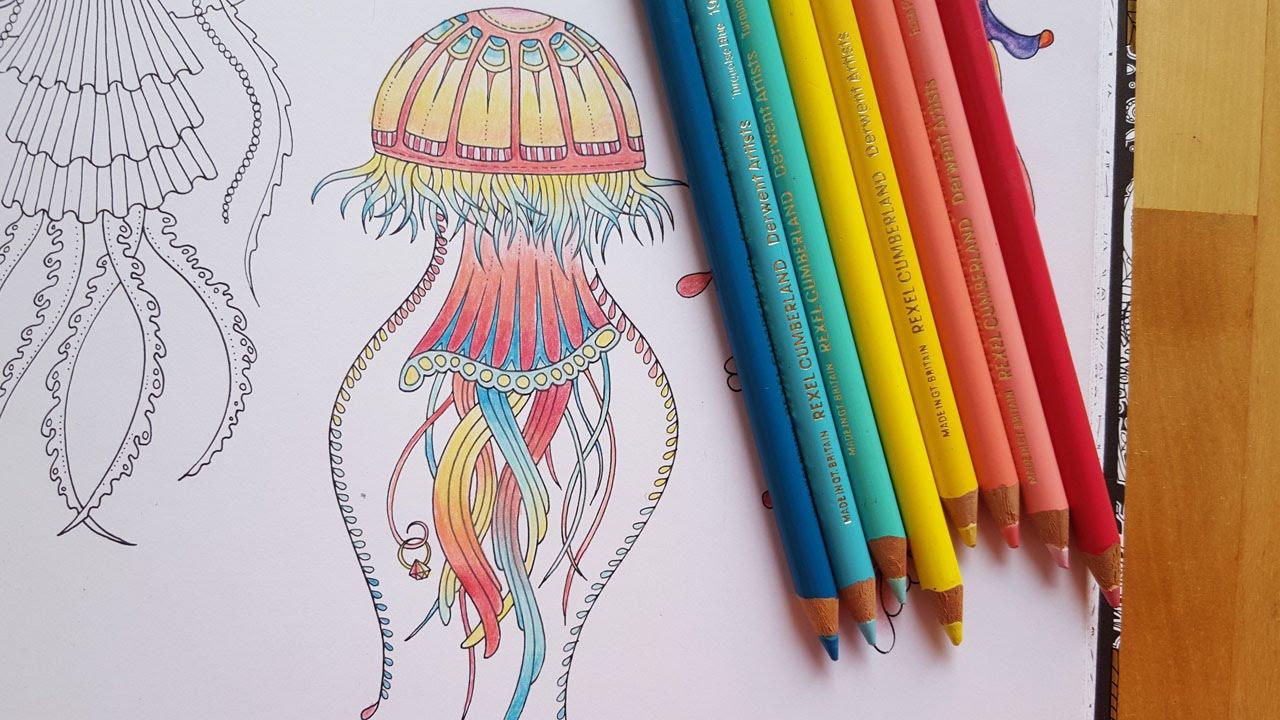 Lost Ocean Speed Coloring Rainbow Pastel Jellyfish