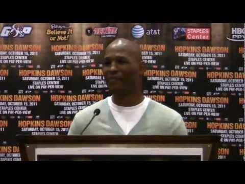 Bernard Hopkins vs. Chad Dawson press conference