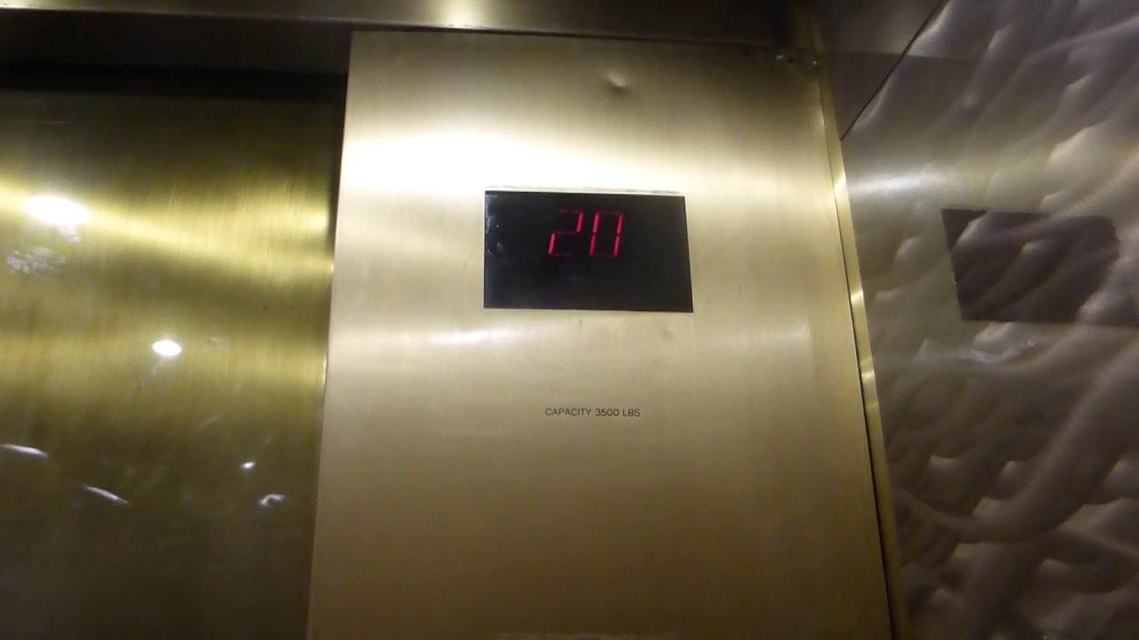 Otis Traction Diagonal 3B Elevators At Luxor Resort Pyramid