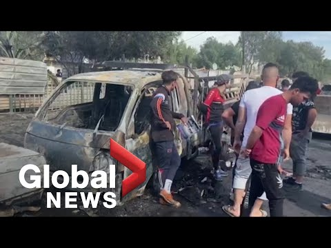 4 dead, 17 wounded after car bomb detonates in busy Baghdad market