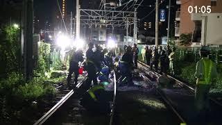【都電】東京さくらトラム(都電荒川線)補助81号工事に伴う三ノ輪橋方面軌道移設工事