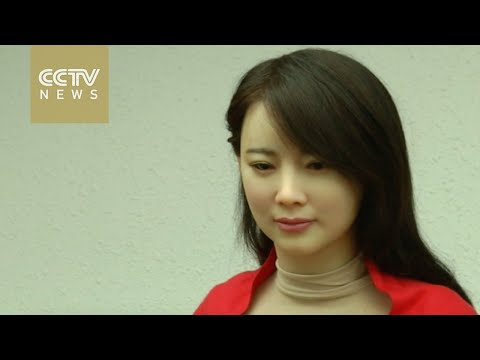 Chinese university unveils lifelike female robot