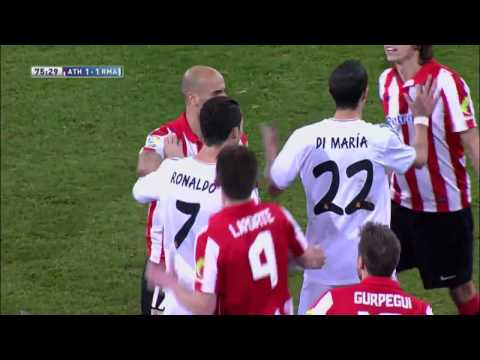 Athletic Bilbao Vs Real Madrid 1 1   Cristiano Ronaldo Red Card   February 2 2014   HD