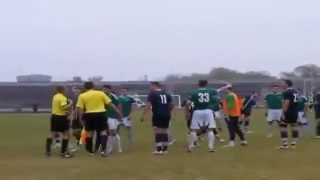Ukrainian Player Punches Referee in the Face During Rivne Supercup Match 11/11/2014