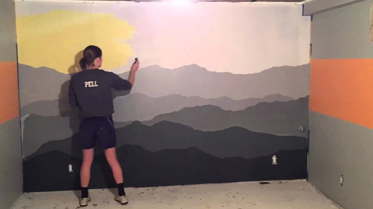 Mountain Mural Time Lapse YouTube