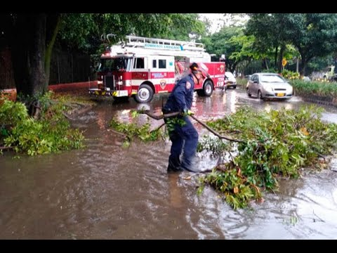 Por lo menos 22 emergencias fueron atendidas durante aguacero en el sur del Valle de Aburrá