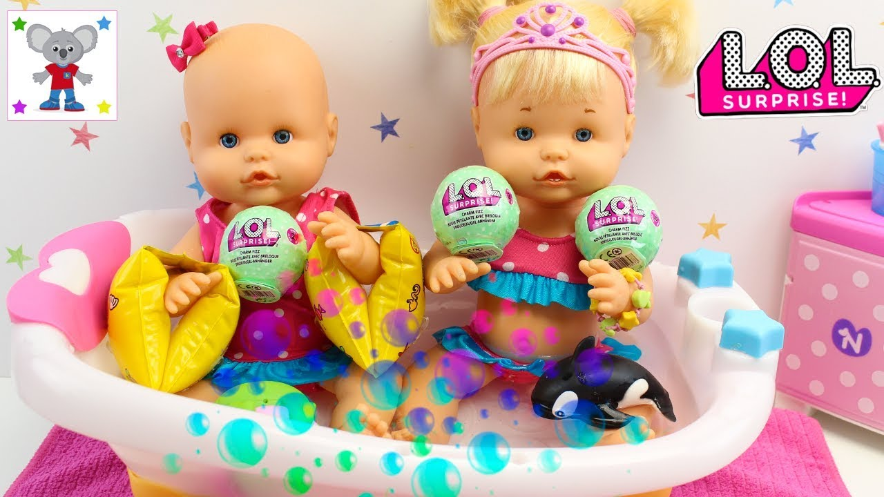 relé eterno Escuela primaria  LOL Surprise Bolas Efervescentes CHARM FIZZ - Bebés NENUCO HERMANITAS  TRAVIESAS Baño de Burbujas - YouTube