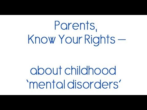 Parents Know Your Rights About Adhd Child Mental Disorders