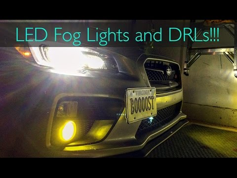 2016 Subaru WRX STI: Installing LED Fog Lights and LED DRL/High Beams!!