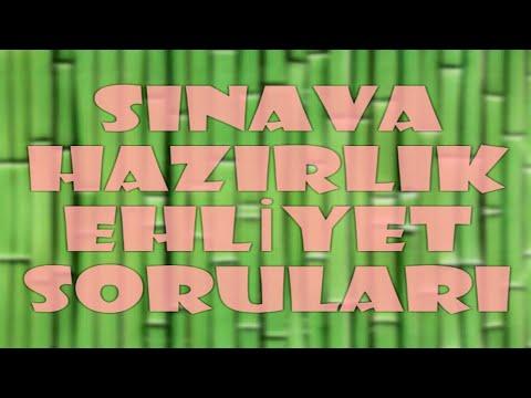 OCAK 2019 ELEKTRONİK EHLİYET SINAVI SORULARI VE CEVAPLARI (Sınavda Çıkmış 50 Soru)