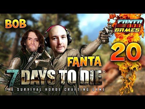 7Days To Die - Ep.20 :  DYNAMITE SOUS LA MAISON !! - Fanta et Bob COOP Let's Play Survie Zombie