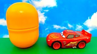 Lightning McQueen and BIG Surprise Egg  आश्चर्य अंडा कारें