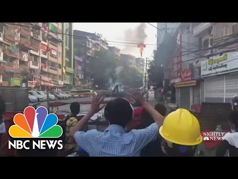 At Least 18 Killed in Myanmar Protests | NBC Nightly News