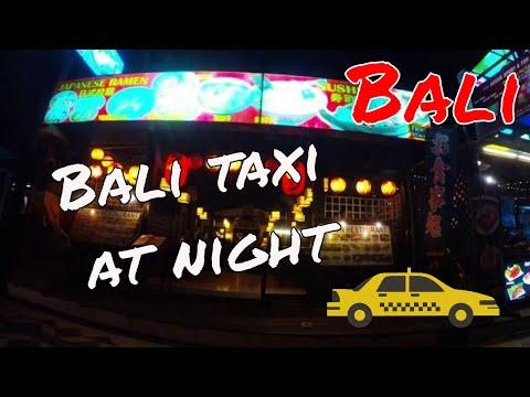Bali taxi at night