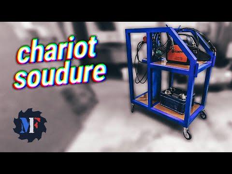 Comment fabriquer un chariot pour poste a souder, soudure acier mig