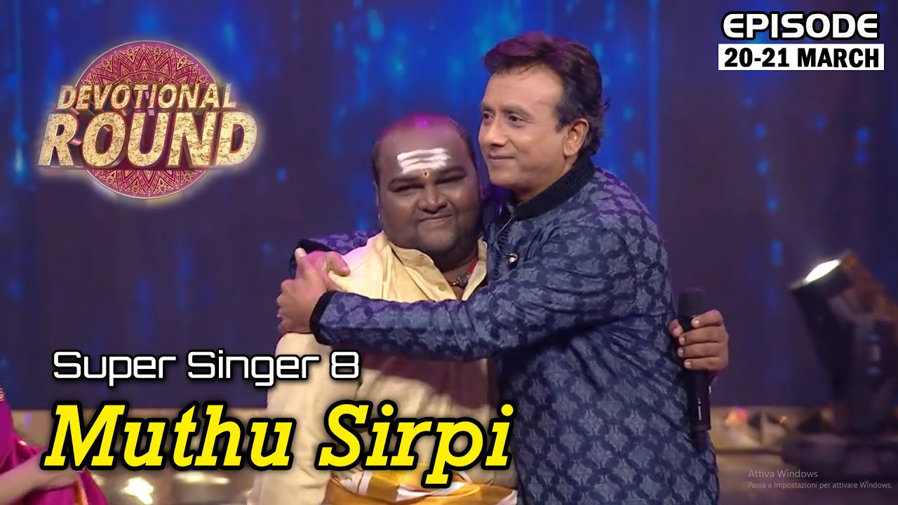 Download Muthu Sirpi Performance in devotional song | March20th Eppisode | Super Singer MuthuSirpi