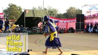 Gatka dance by young Nihang warriors - Anandpur Sahib, Punjab