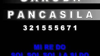 NOT LAGU GARUDA PANCASILA - CIPT. SUDARNOTO