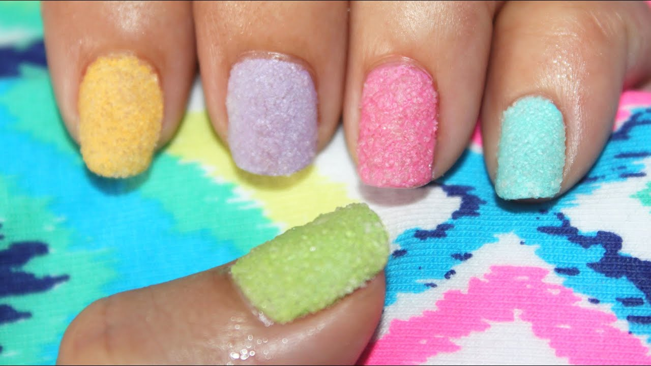 How to Make a Nail Art with Sugar